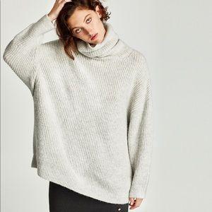 Zara Oversized Turtleneck Sweater